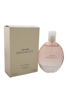 Calvin Klein Sheer Beauty women 3.4oz EDT Spray (Tester)