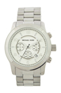 MK8086 Runway Oversized Silver-Tone Watch by Michael Kors for Men - 1 Pc Watch