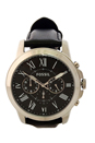 FS4812P Grant Chronograph Black Leather Watch by Fossil for Men - 1 Pc Watch