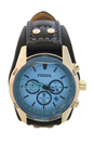 CH2564P Coachman Chronograph Black Leather Watch by Fossil for Men - 1 Pc Watch