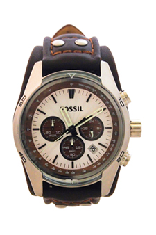 CH2565P Coachman Chronograph Brown Leather Watch by Fossil for Men - 1 Pc Watch