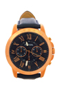 FS4835P Grant Chronograph Navy Leather Watch by Fossil for Men - 1 Pc Watch