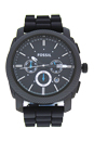 FS4487P Machine Chronograph Black Silicone Watch by Fossil for Men - 1 Pc Watch