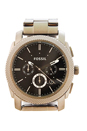 FS4662P Machine Chronograph Smoke Stainless Steel Watch by Fossil for Men - 1 Pc Watch