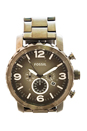 JR1437P Nate Chronograph Smoke Stainless Steel Watch by Fossil for Men - 1 Pc Watch