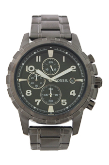 FS4721 Dean Chronograph Smoke Stainless Steel Watch by Fossil for Men - 1 Pc Watch