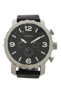JR1436 Nate Chronograph Black Leather Watch by Fossil for Men - 1 Pc Watch