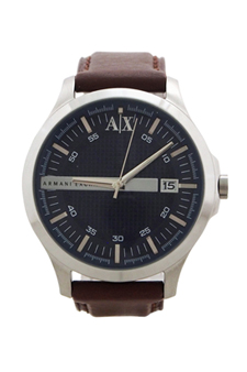 AX2133 Brown Leather Strap Watch