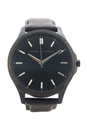 AX2148 Black Leather Strap Watch by Armani Exchange for Men - 1 Pc Watch
