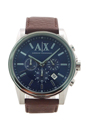AX2501 Chronograph Brown Leather Watch by Armani Exchange for Men - 1 Pc Watch