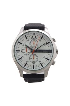 AX2165 Chronograph Black Leather Strap Watch
