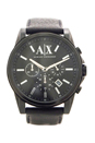 AX2098 Black Leather Strap Watch by Armani Exchange for Men - 1 Pc Watch