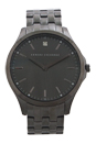 AX2169 Diamond Accent Gunmetal Ion Plated Stainless Steel Bracelet Watch by Armani Exchange for Men - 1 Pc Watch