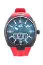 AX1803 Chronograph Red Silicone Strap Watch by Armani Exchange for Men - 1 Pc Watch