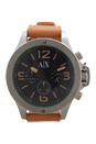 AX1516 Chronograph Light Brown Leather Strap Watch by Armani Exchange for Men - 1 Pc Watch