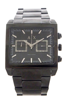AX2222 East-West Black Ion Plated Stainless Steel Bracelet Watch by Armani Exchange for Men - 1 Pc Watch