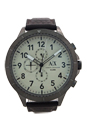 AX1757 Chronograph Dark Brown Leather Strap Watch by Armani Exchange for Men - 1 Pc Watch
