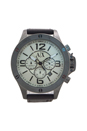 AX1519 Chronograph Dark Brown Leather Strap Watch by Armani Exchange for Men - 1 Pc Watch