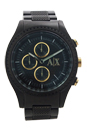 AX1604 Chronograph Black Ion Plated Stainless Steel Bracelet Watch by Armani Exchange for Men - 1 Pc Watch