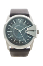 DZ1206 Silver Dial Brown Leather Strap Watch by Diesel for Men - 1 Pc Watch