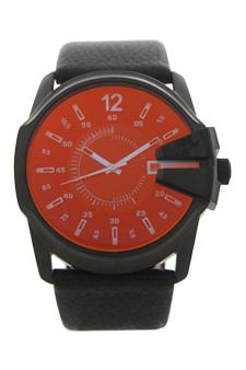 DZ1657 Master Chief Black Leather Strap Watch by Diesel for Men - 1 Pc Watch