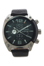 DZ4341 Chrono Black Dial Black Leather Strap Watch by Diesel for Men - 1 Pc Watch