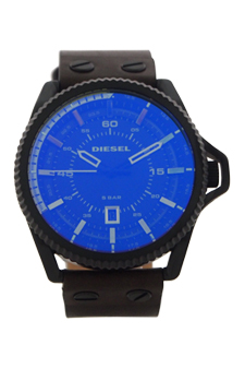 DZ1718 Rollcage Olive Leather Strap Watch by Diesel for Men - 1 Pc Watch