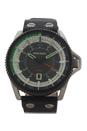 DZ1717 Rollcage Black Leather Strap Watch by Diesel for Men - 1 Pc Watch