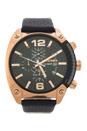 DZ4297 Chronograph Black Textured Leather Strap Watch by Diesel for Men - 1 Pc Watch