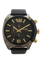 DZ4375 Overflow Chronograph Black Leather Watch by Diesel for Men - 1 Pc Watch