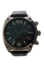 DZ4372 Overflow Stainless Steel Leather Chronograph Watch by Diesel for Men - 1 Pc Watch