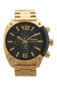 DZ4342 Chronograph Overflow Gold-Tone Stainless Steel Bracelet Watch by Diesel for Men - 1 Pc Watch