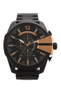 DZ4309 Chronograph Mega Chief Black Ion Plated Stainless Steel Bracelet Watch by Diesel for Men - 1 Pc Watch