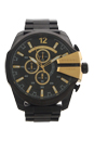 DZ4338 Chronograph Mega Chief Black Ion Plated Stainless Steel Bracelet Watch by Diesel for Men - 1 Pc Watch