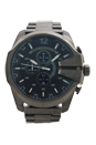 DZ4329 Chronograph Mega Chief Gunmetal Ion Plated Stainless Steel Bracalet Watch by Diesel for Men - 1 Pc Watch