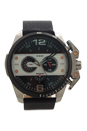 DZ4361 Chronograph Ironside Black Leather Strap Watch by Diesel for Men - 1 Pc Watch