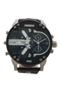 DZ7313 Mr Daddy 2.0 Black Leather Strap Watch by Diesel for Men - 1 Pc Watch