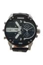 DZ7313 Mr Daddy 2.0 Black Leather Strap Watch by Diesel for Men - 1 Pc Watch