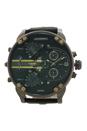 DZ7348 Mr. Daddy 2.0 Black Leather Strap Watch by Diesel for Men - 1 Pc Watch
