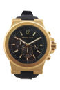 MK8445 Chronograph Dylan Black Silicone Strap Watch by Michael Kors for Men - 1 Pc Watch