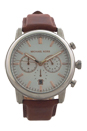 MK8372 Chronograph Pennant Luggage Leather Strap Watch by Michael Kors for Men - 1 Pc Watch