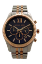 MK8412 Chronograph Lexington Two-Tone Stainless Steel Bracelet Watch by Michael Kors for Men - 1 Pc Watch