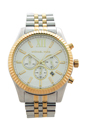 MK8344 Chronograph Lexington Two-Tone Stainless Steel Watch by Michael Kors for Men - 1 Pc Watch