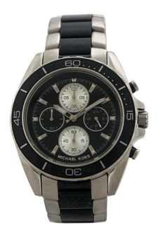 MK8454 Chronograph JetMaster Two-Tone Carbon Fiber Stainless Steel Watch by Michael Kors for Men - 1 Pc Watch