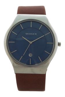 SKW6160 Grenen Brown Leather Strap Watch by Skagen for Men - 1 Pc Watch