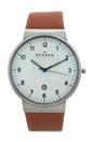 SKW6082 Brown Leather Strap Watch by Skagen for Men - 1 Pc Watch