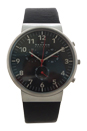 SKW6100 Chronograph Ancher Black Leather Strap Watch by Skagen for Men - 1 Pc Watch