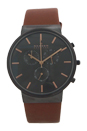 SKW6106 Chronograph Ancher Brown Leather Strap Watch by Skagen for Men - 1 Pc Watch