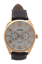 AO9023-01A Eco-Drive Brown Leather Strap Watch by Citizen for Men - 1 Pc Watch