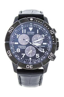 BL5259-08E Chronograph Eco-Drive Black Leather Strap Watch by Citizen for Men - 1 Pc Watch